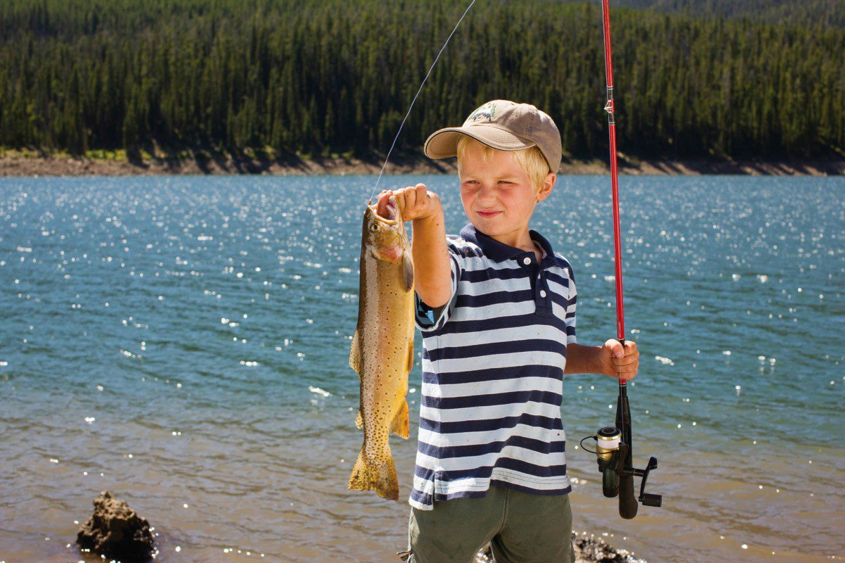 if you can  take a kid fishing this spring season