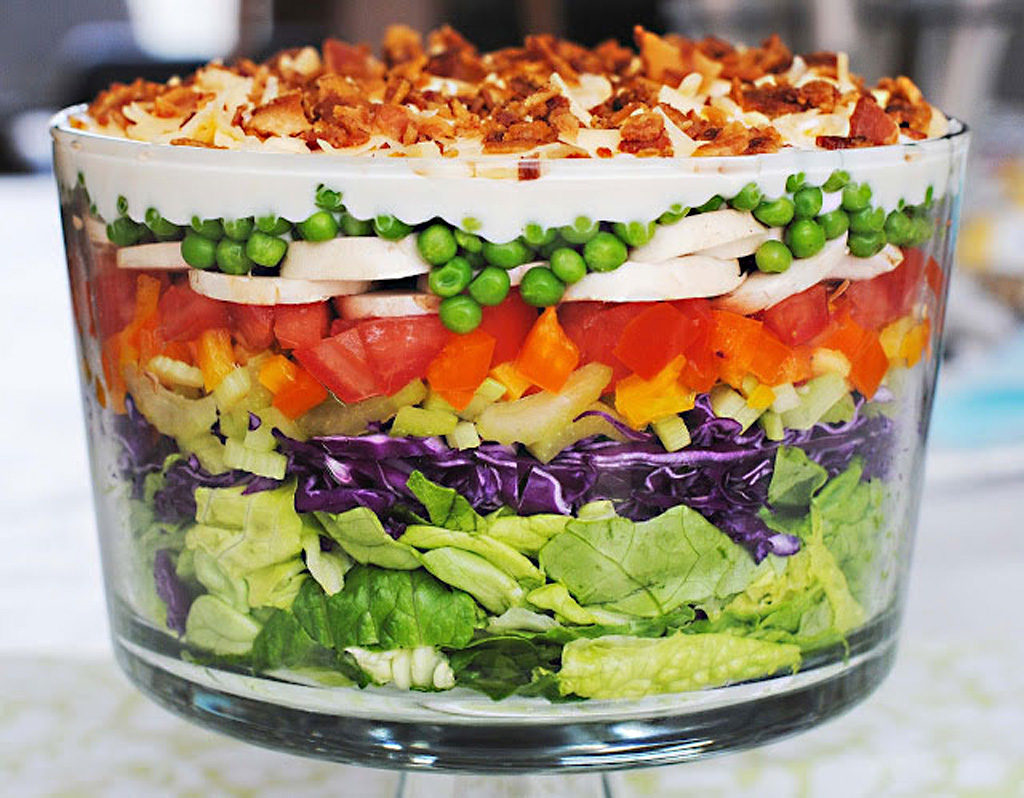 Blue Ribbon Layered Salad Recipe