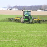 Liquid Manure topdressing wheat