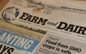 Farm and Dairy front page