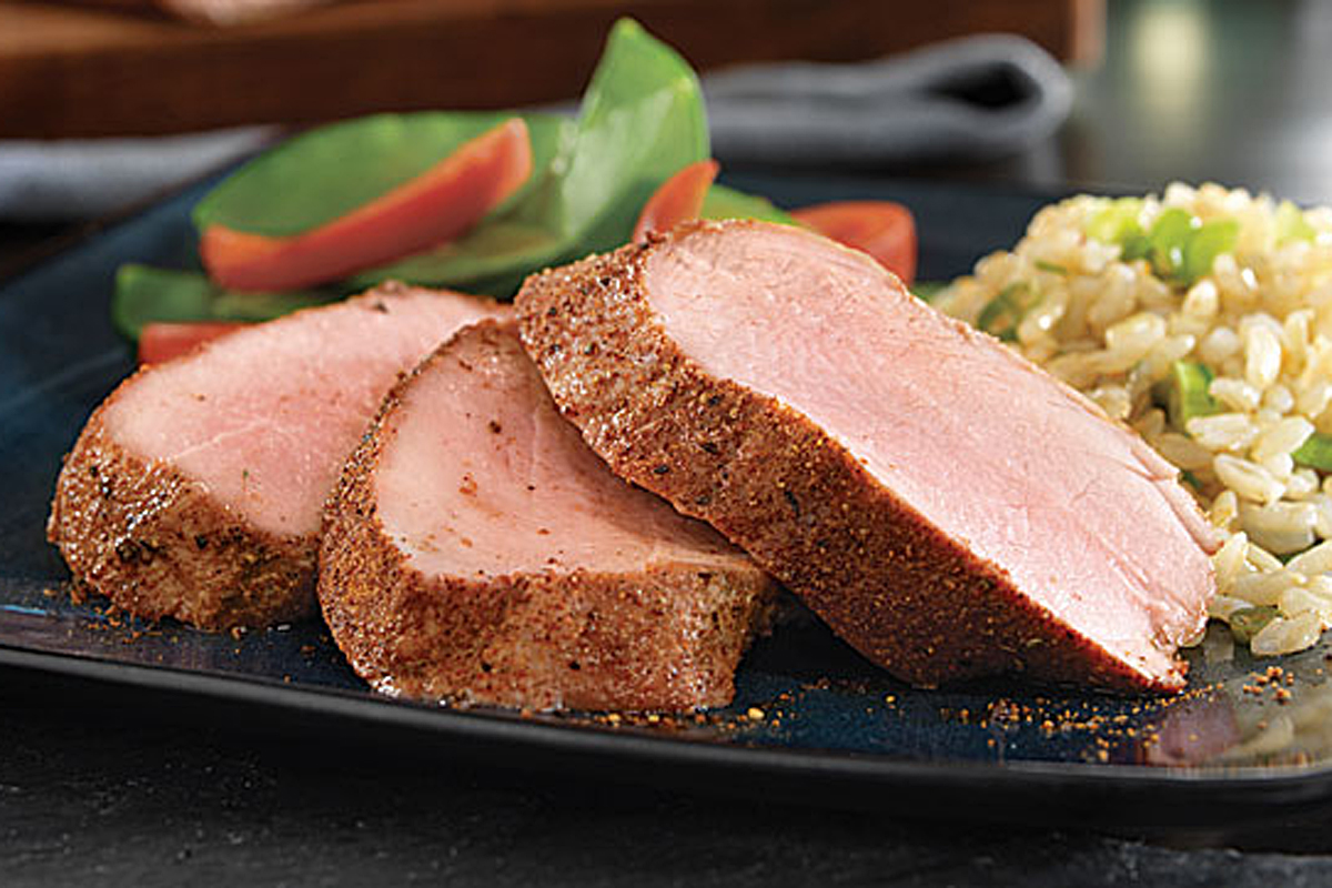 Pork tenderloin with Asian dry rub