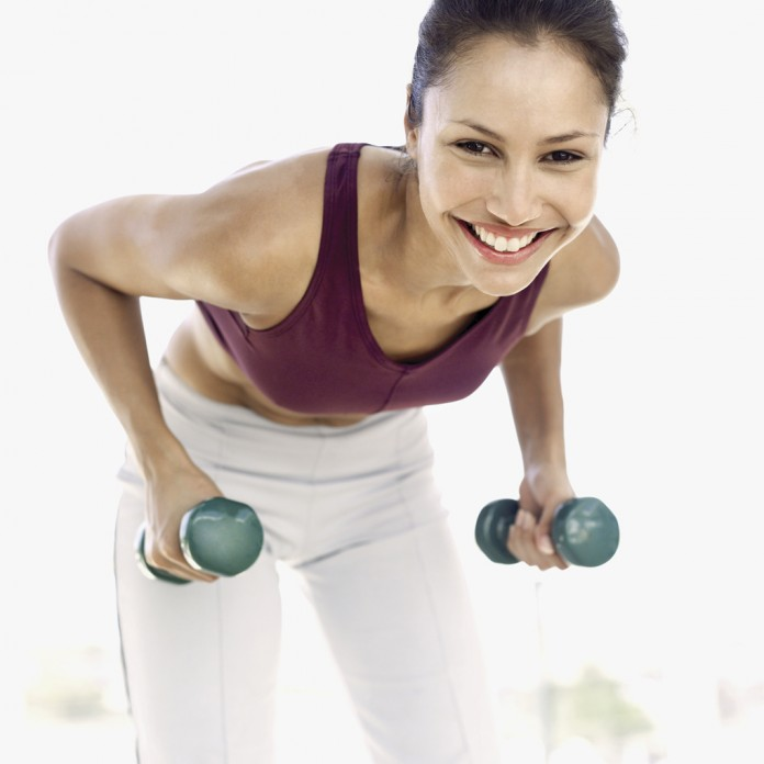 woman and weights