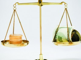 Scales and money