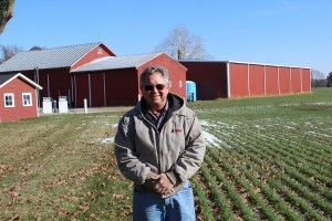 Kurt Heyman at his farm near Norwalk.