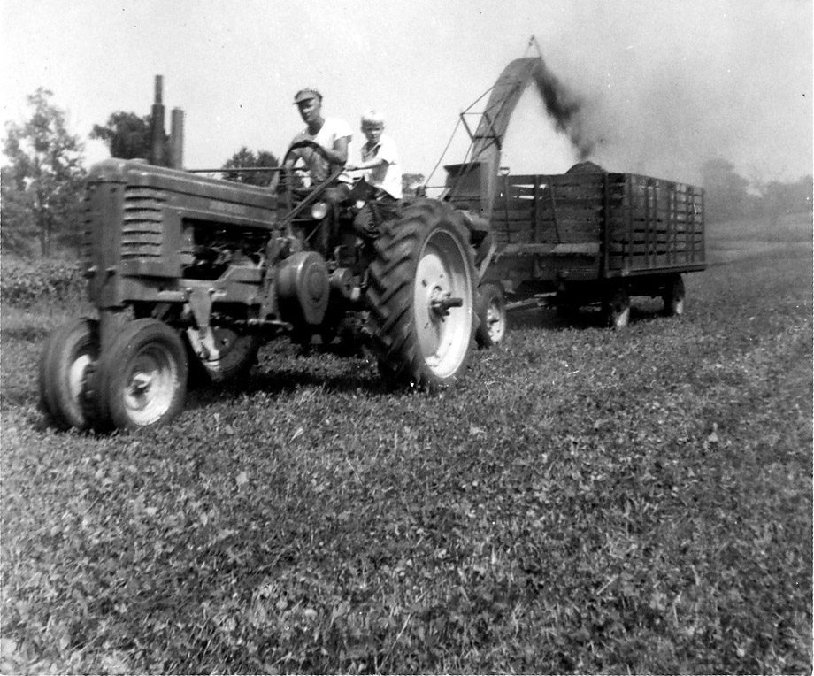 Vintage farm photo, Brunner Farm
