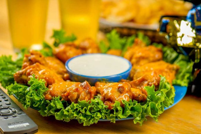 Sweet Gingered wings on a plate.