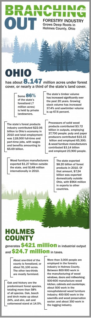 Ohio, Holmes County timber Infographic/Farm and DAiry