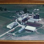 Bowman farm from above