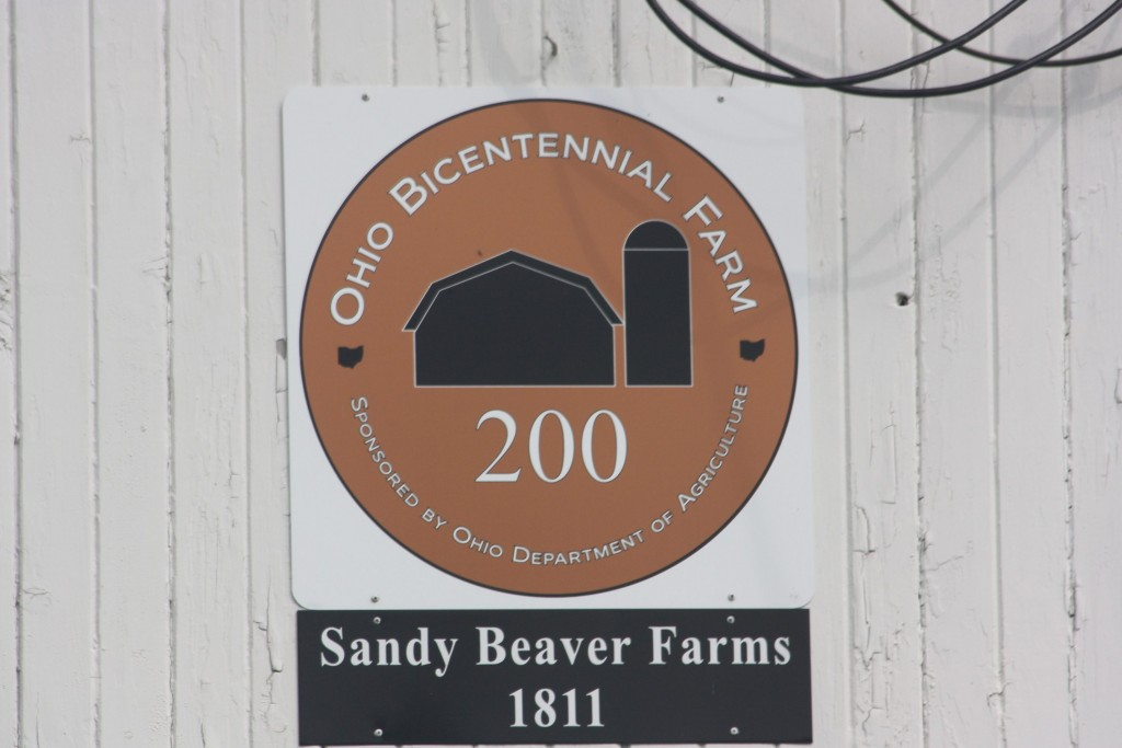 Sign on Bowman farm