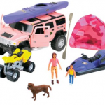 Girls camping playset