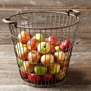 Wire apple basket from Williams-Sonoma