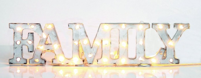 lighted marquee family sign