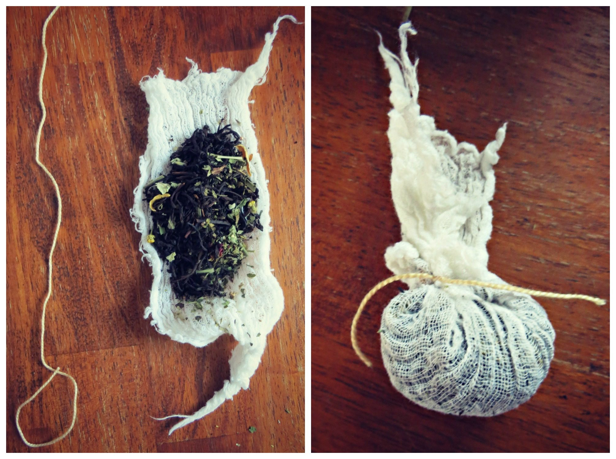 homemade tea bag
