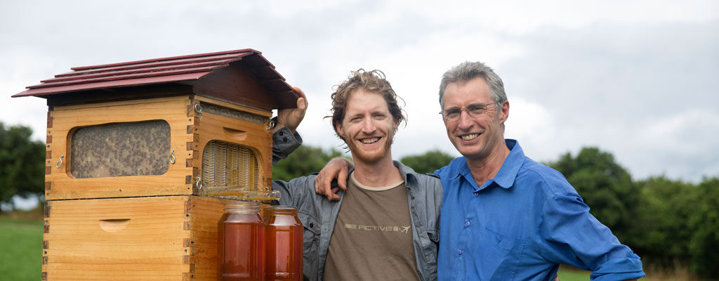 Cedar and Stuart Anderson with Flow Hive