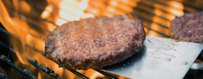 burger on the grill
