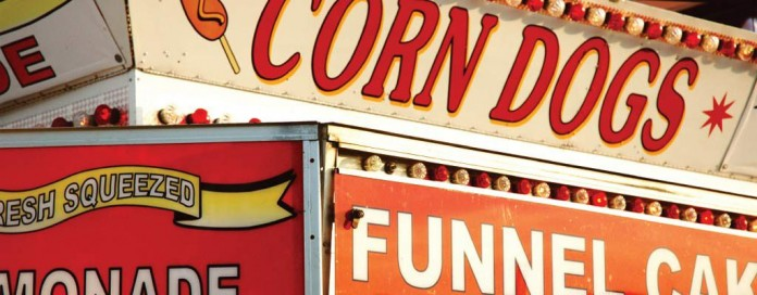 food stand at the fair