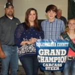 Columbiana County Fair grand champion carcass steer