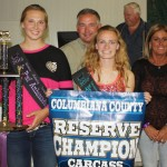 Columbiana County Fair reserve champion carcass steer
