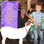Butler grand champion goat (Farm and Dairy/Susan Crowell photo)