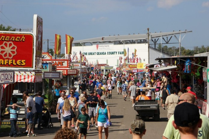 Geauga County Fair midway