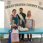 Reserve champion rabbit meat pen