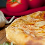 pizza, tomatoes and onion