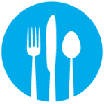 Around the Table logo: fork, knife and spoon