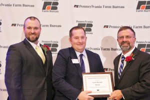 Pa. Farm Bureau young farmer award.Scott Rhoads