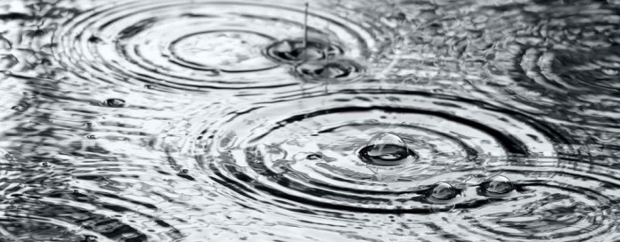 raindrops on puddles
