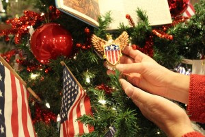 Patriotic ornaments.