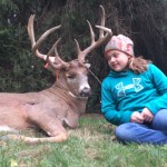 Zoee Snow with 11-point buck