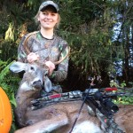 Alivia Miller and 8-point buck