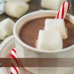 hot chocolate and marshmallows