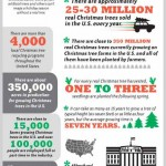Christmas trees infographic