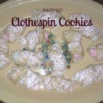 clothespin cookies on plate