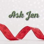 Ask Jen with Christmas ornament