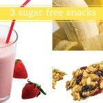 smoothie, banana and granola collage