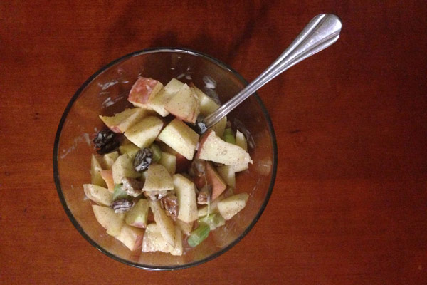 Waldorf salad with Greek yogurt