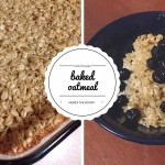 baked oatmeal collage