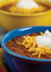 chili in bowls