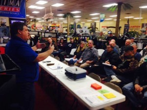 Lance Valentine walleye fishing seminar