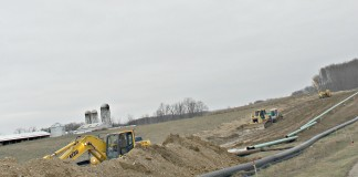 Carroll County pipelines under construction.