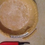 cutting pie crust
