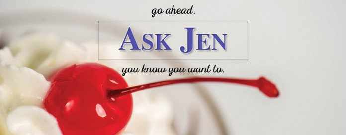 Ask Jen text with cherry
