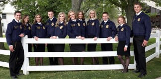 2015-2016 Ohio State FFA Officer team