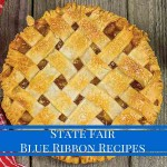 "lattice apple with text ""State Fair Blue Ribbon Recipes"""