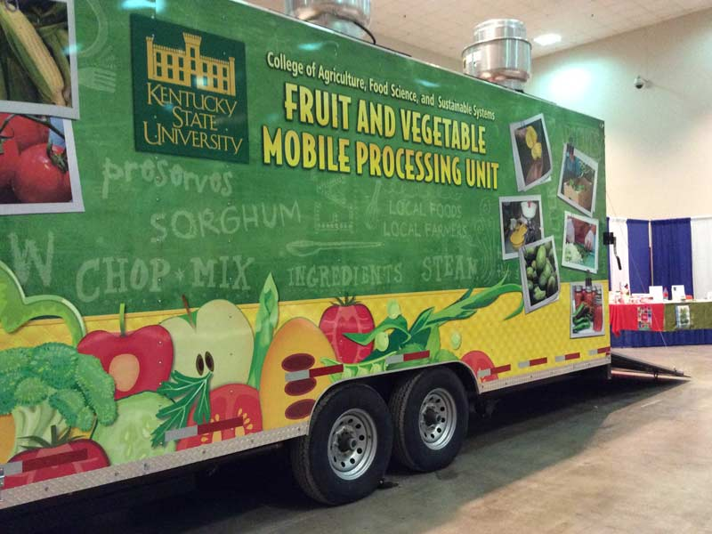Kentucky State University mobile food processing trailer