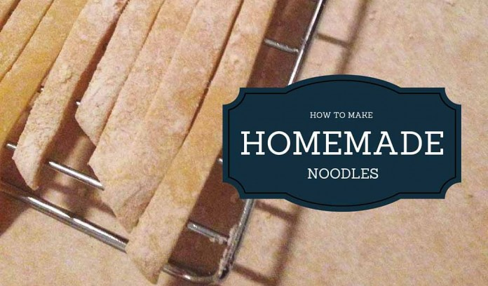homemade noodles with text