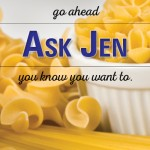pasta with Ask Jen text