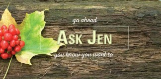 Ask Jen header with maple leaf